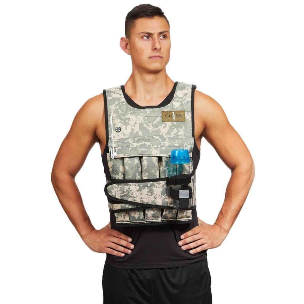 Picture of the Cross 101 Adjustable Weighted Vest 40 Lbs Camo
