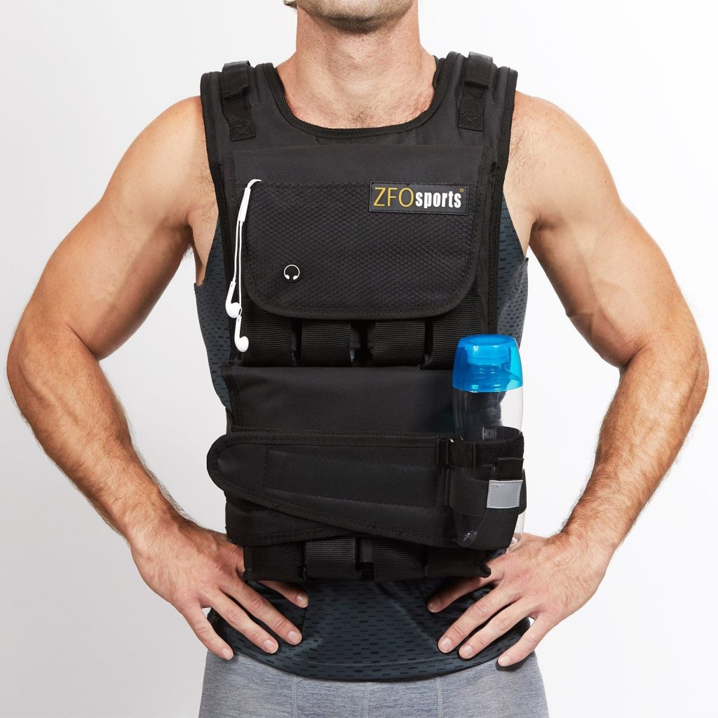 RUNFast//Max 12lbs-140lbs Adjustable Weighted Vest Without Shoulder Pads,...