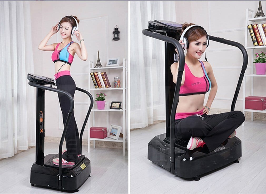 Picture of Woman Using Merax Crazy Fit Vibration Machine