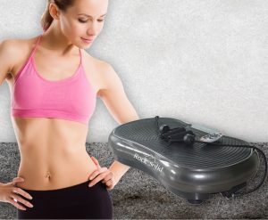 Picture of Woman Using Rock Solid Vibration Machine