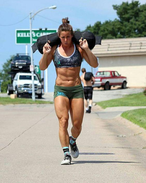 Picture of Woman Using Sandbags for Fitness