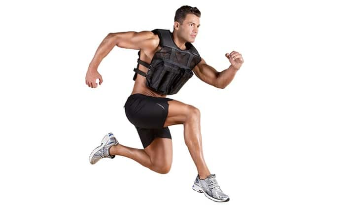 Picture of a Man Running in Weighted Clothing