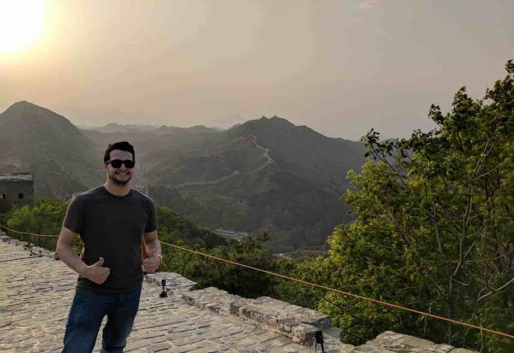Picture of Ben Breda (me) at the Great Wall in China