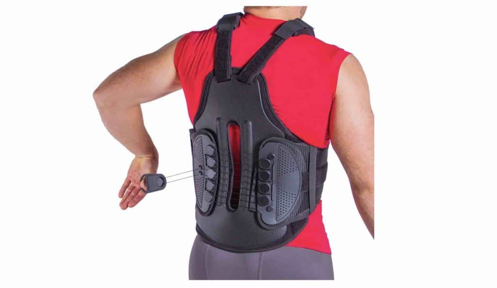 Picture of the TLSO Thoracic Full Back Brace