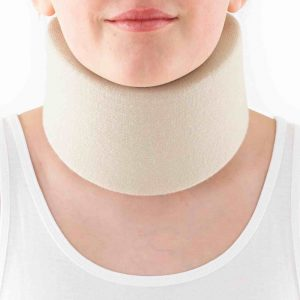 Example of a soft cervical collar
