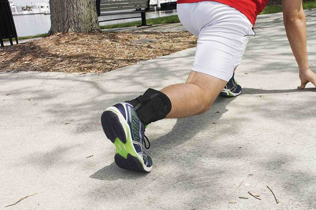 Picture of a lace up ankle brace