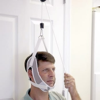 Picture of an over-the-door cervical support