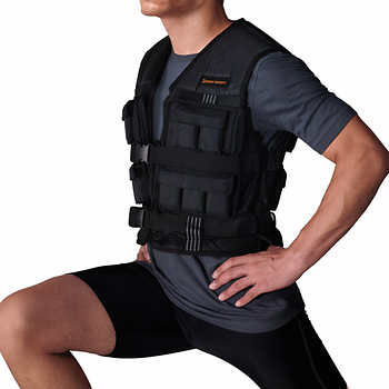 Picture of a man wearing a weighted vest