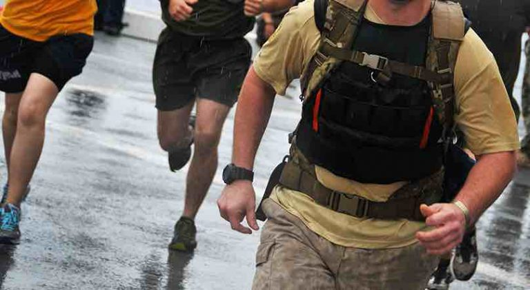 Picture of people training in weighted vests